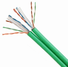 Dual stranded 4*2* 7/0.20BC & CCA UTP CAT6 short meter cable good quality wooden package