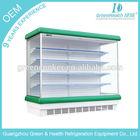 Tempered glass Supermarket Multideck open refirgerator Multideck display beverage/fruit/milk