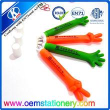 funny design stationery finger ball pen /plastic ball pen for promotional