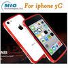 Love Mei brand double color bumper case AL metal mobile phone accessory for iphone case, for iphone 5C case 8 colors