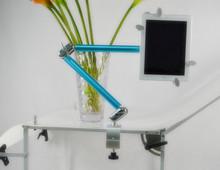 QXT-4 aluminum alloy folding design for tablet laptop holder bracket
