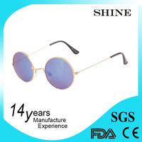 Cheap custom logo round retro good quality sun glasses