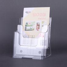 2-layer A4 clear acrylic brochure display rack leaflet holder