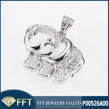Cute elephant 925 sterling silver pendant