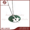 RenFook factory direct sale 925 sterling silversilver leaf pendant plain shiny silver