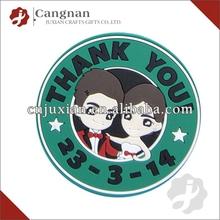 promotion customized soft pvc coaster