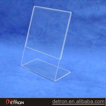 high quality clear acrylic table top A4 flyer holder