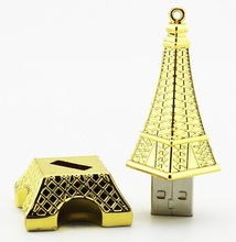 Fashion Eiffel Tower design usb flash pen drive memory disk