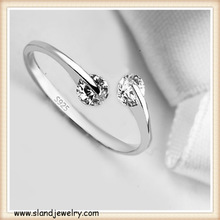 alibaba website China gold supplier wholesale sterling silver jewelry minimalist diamond design adjustable 925 silver ring