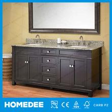 Modern Double Bowl Antique Bathroom Cabinet