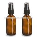 50ml marrom âmbar aromaterapia garrafas de vidro, black pulverizador atomizador spray