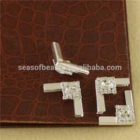 Beautiful Clear Rhinestone Silver Scrapbooking Folder Albums Book Corner For Browband