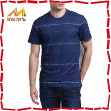 Recyclable material environment friendly no minimum order custom t shirts/ men order custom t shirts