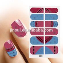 Nail Polish Art Adhesive Decorative Strips - Blue Purple Gold Glitter Stripes Nail Art