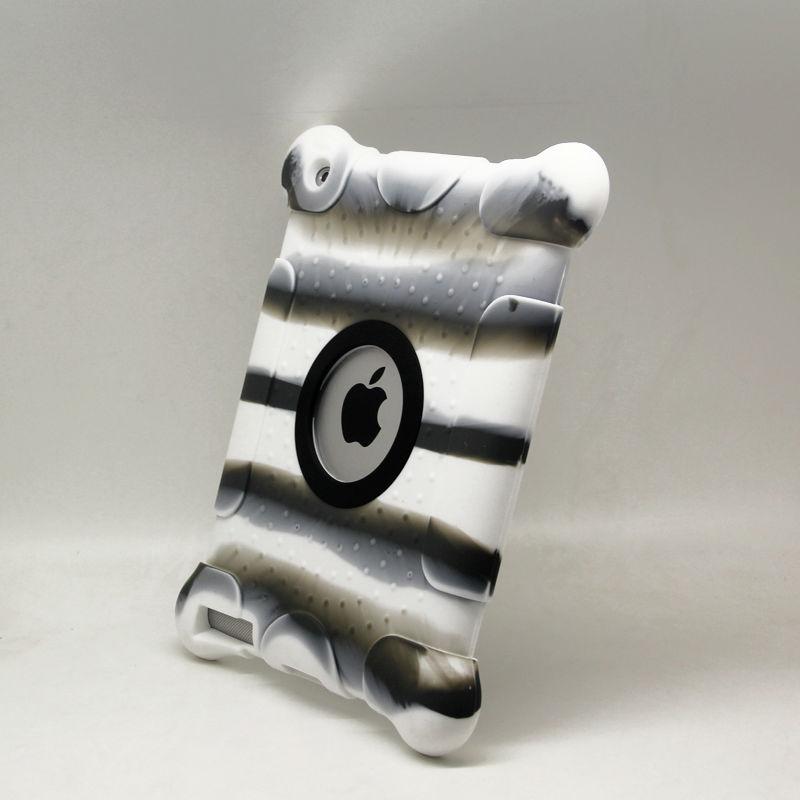 Zebra Color Silicon for ipad 4 stripe case in new design