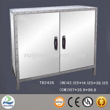mirror glass molded cabinet door skin