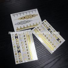 High quality arabic tattoos gold foil tattoo