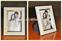 W3239 Bad Surface Finish white wooden photo frame
