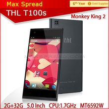 Original THL T100s monkey king 2 5.0'' OGS NFC OTG 13.0MP camera mtk 6592 octa core phone