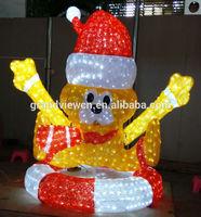 led light up cartoon character motif lights for park garden christmas decoration