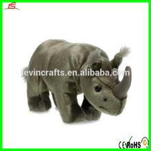 plush soft stuffed rhino with t-shirt