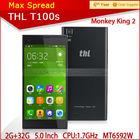 "Original 5.0"" Gorilla Glass Monkey King 2 Andriod 4.2 2GB 32GB 13.0MP thl t100 octa core"