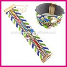 Bohemian style fashion national colorful magnetic clasp wide bracelets custom