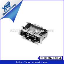 Female micro usb type usb female to audio jack male connector port PCB board