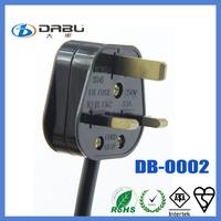 3 square pin uk electrical plug