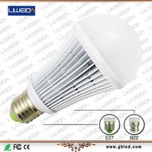 Hot sale PC Aluminium e27 b22 e14 base home office market no broken ul approved led bulb lighting