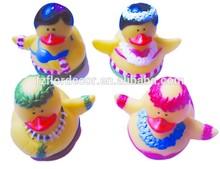 rubber bath duck promotional mini bath duck toy vinyl bath toy fairy/peri design mini duck