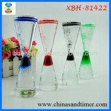 New Innovative Product Ideas Color Acrylic Oil Liquid Hourglass Decor