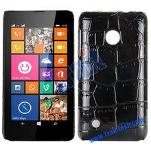 Fashion Crocodile Pattern Leather Coated PC Hard Cover Case for Nokia Lumia 530 RM-1017 RM-1019