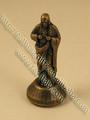 Estatua, de metal, de bronce, 5cm, de pie, sagrado corazón de jesús