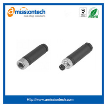 right angle PCB mount connector M12 connector,angled,M12 female panel mount waterproof right angled PCB type shielded connector