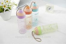 High quality novelty bottle PP plastic mug drink bottle 400ml