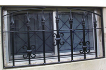 WH14W110 decorative luxury wrought iron french simple iron window grills