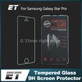 9h anti- risco de prova de impressão digital vidro temperado telefone móvel protetor de tela película protetora para samsung galaxy star pro