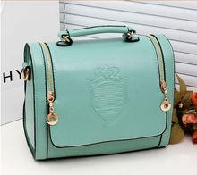 2014 Hot sale korean style simple ladies pu shoulder bag, handbag women's