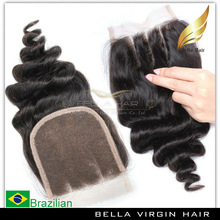 High Quality And Cheap 4*4 3 Part Hair Closure Piece silk invisible part closure virgin hair