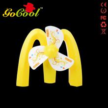 Decorative 12v beautiful mini yellow color fan like spider