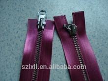 2014 new design satin open end zipper for women dress