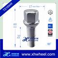 Ts16949- Approvato cromato m12 p1.5 bullone del mozzo della ruota