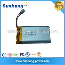 Battery manufacturer wholesales china low temperature lipo battery 3.7V 2250mAh