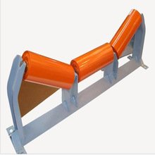 Trough shaped carrier roller