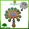 custom metal decorative pooja thali badges