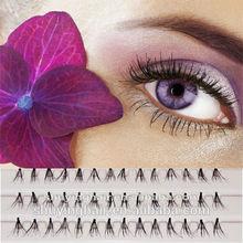 Factory hot sell false eyelashes professional full strip korean eyelash extensions 100% Human Hair Eyelashes