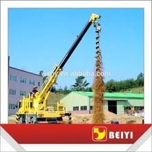 excavator drilling attachment