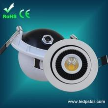 360degree rotatable Square 5w cob led downlight 80mm cut