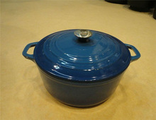 cast iron cookware with enamel coating
